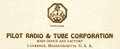 Pilot Radio And Tube Corporation, trade mark