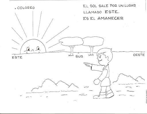 Puntos cardinales para colorear - Imagui