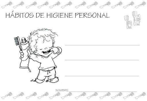 Hábitos de higiene personal en los niños para colorear - Imagui