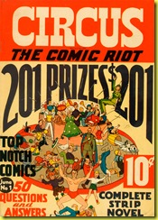 cartoon circus on cover of 1938 circus the comic riot