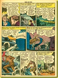 image: rare comic book page showing giant monster