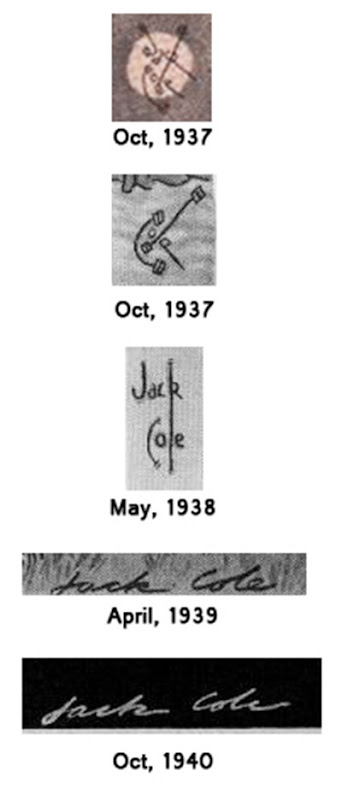 Jack Cole boys life signatures