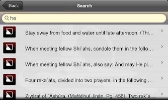 Screenshot of iDuas Muharram