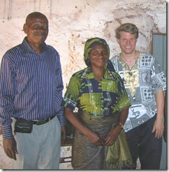 Mukulu Kabaseli and his wife (with me)