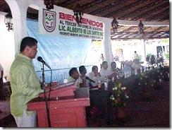Rinde Alberto de los Santos  Díaz, su tercer Informe de Gobierno  ante representantes populares y ciudadanía coyuquense