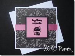 XOXO - Cupckae Card CG