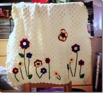 Flower-Butterfly blanket
