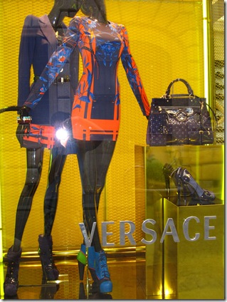Versace shop window