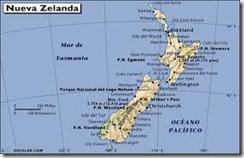 mapa NZ