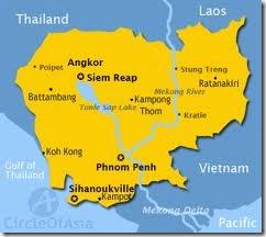 mapa camboya