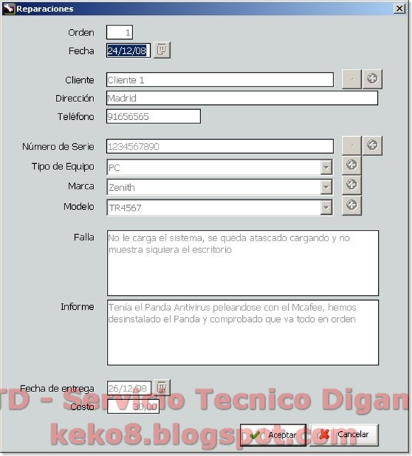 STD - Servicio Tecnico Digame: SAT MANAGER