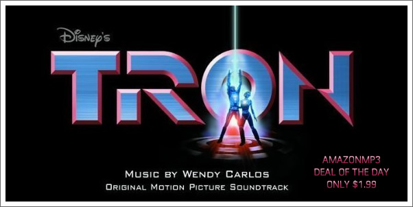 Tron Soundtrack by Wendy Carlos Daily Deal: $1.99