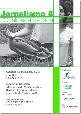 E-flyer Jornalismo & Qualidade de vida