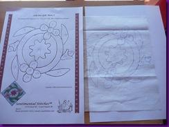 2. Zeichnung auf Windelvlies