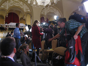 Media Stand Blocking 2/3 of Room From View of Stage