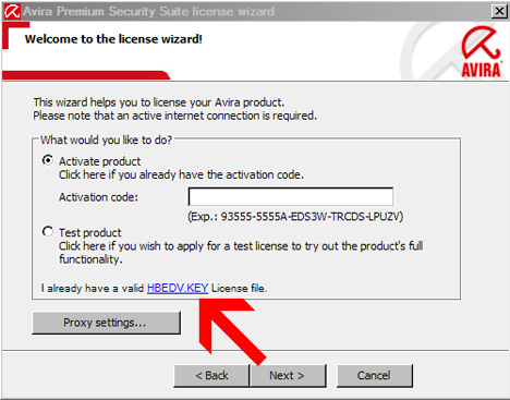 Avira Antivirus Premium Activation key