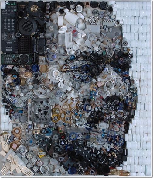 垃圾藝術畫-2