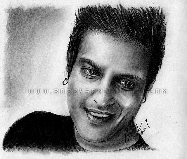 jimmy shergill pencil drawing