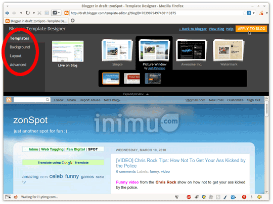Screenshot Blogger Template Designer 02