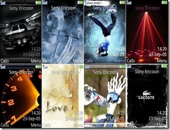 Animated themes for Sony Ericsson (Pack 3)