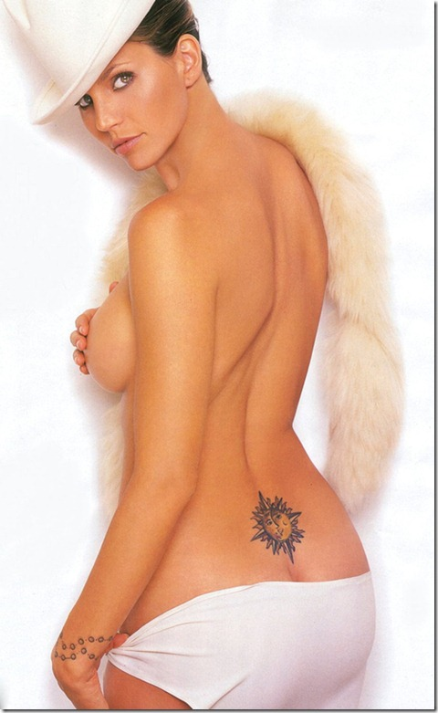 Beautiful Lower Back Sun Tattoo For Women