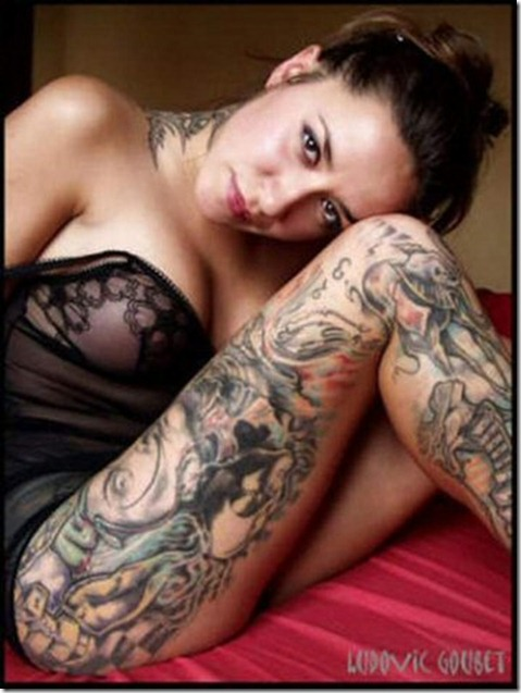 sexy-model-full-body-tattoo-hot-lady