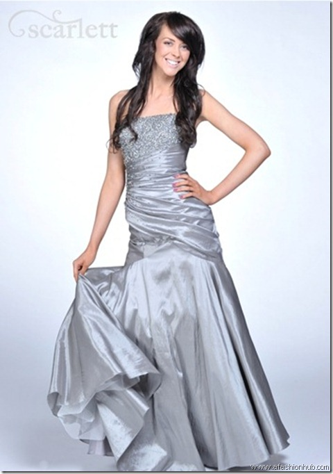 Farah, also in Indigo-Prom dress and ballgown