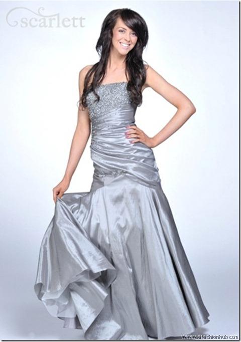 Farah, also in Indigo-Prom dress and ballgown