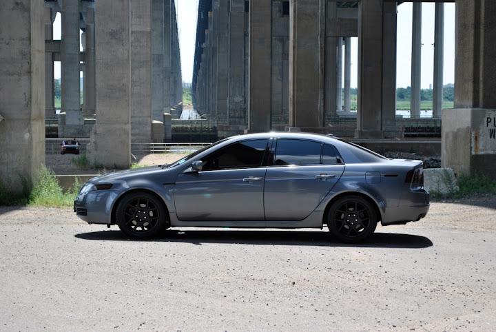 Matte Black TLs Wheels AcuraZine Acura Enthusiast Community - Acura tl rims black