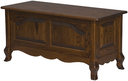 "36"" wide x 18"" high x 16"" deep Orleans Chest in Mahogany Oak"