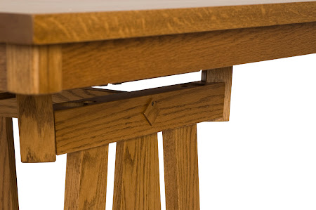 70 x 46 Shenzen Table, Oak Hardwood, Medium Finish