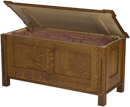 Matching Furniture Piece: Sacramento Chest Shown in Mahogany Quarter Sawn Oak