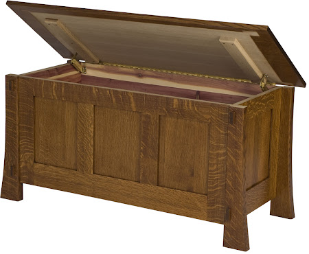 "36"" Wide Seville Chest in  Mahogany Quarter Sawn Oak"