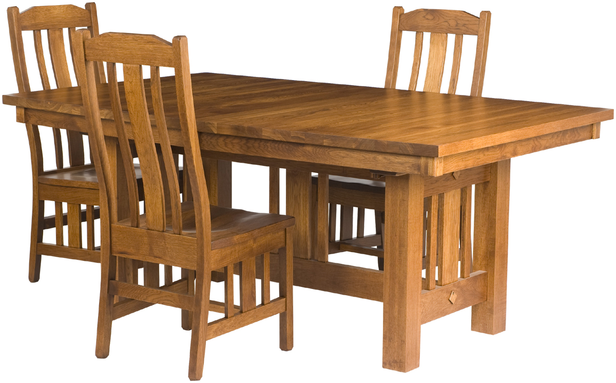 Mission dining room table erik organic - Mission style dining room furniture ...