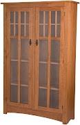 Glass Door Bookshelves