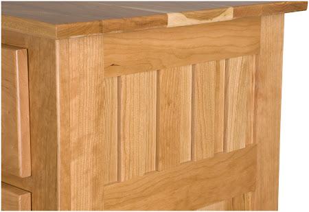 Teton Dresser in Oil & Wax Cherry, Detail Closeup