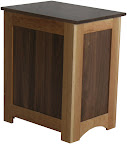 Shaker Nightstand (finished rear panel), Cherry & Walnut Hardwood, Natural Finish