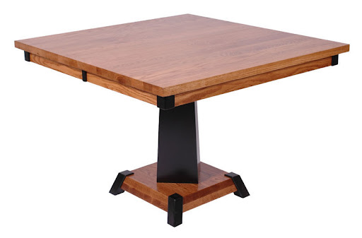 "36"" x 36"" Turin Table in Midnight and Medium Oak"