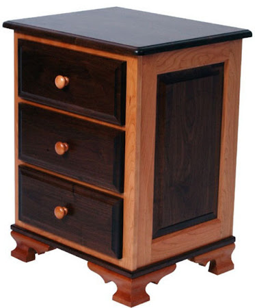 Matching Furniture Piece: Prairie Nightstand, in Natural Cherry and Walnut