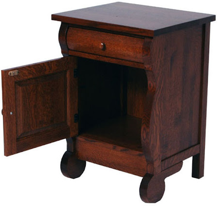 Classic Nightstand with Doors, in Mahogany Quarter Sawn Oak
