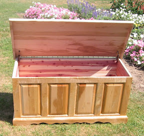 Hope Chest, Hard Maple Hardwood With Birds Eye Maple Accents, Natural Finish