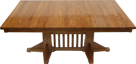"80"" x 48"" Woodland Table in Medium Oak"