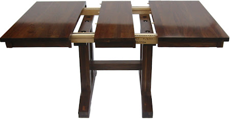 42 x 42 Trestle Dining Table, Walnut Hardwood, Natural Finish