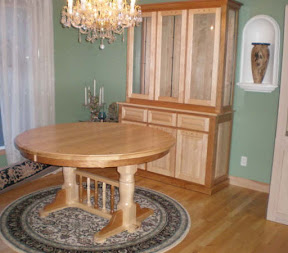 Round 60 Riverside Dining Table Alberta China Cabinet Cherry And Maple Hardwood Natural