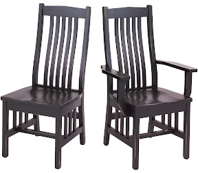 raised mission dining chair