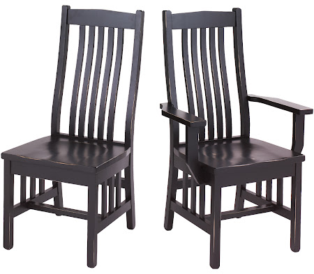 Raised Mission Chair in Midnight Oak