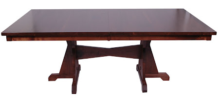"70"" x 46"" Huntington Dining Table, Walnut Hardwood, Winter Finish"