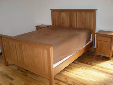 Shaker Bed Frame in Cinnamon Oak