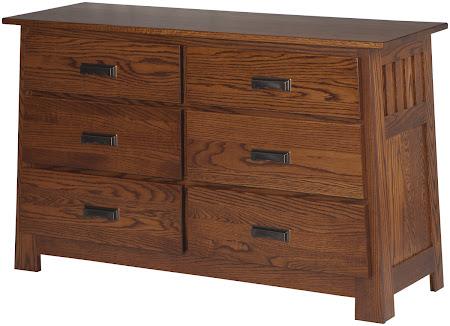 Teton Horizontal Dresser in Autumn Oak