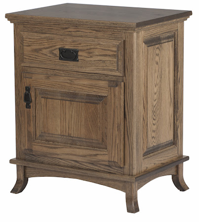 Matching Furniture Piece: Glasgow Nightstand with Door, in Burnt Oak